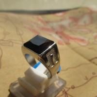 Cincin Pria Stainless Steel Black Onyx