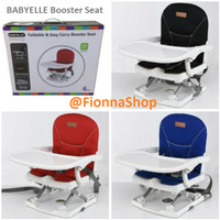 Kursi Makan Bayi BabyElle Booster Seat BE901 Foldable and Easy Carry - Black