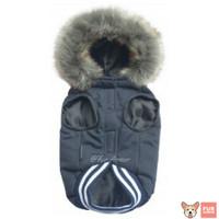 Baju Hewan Anjing Kucing- Elegant Blocktech Coat Fur Series Dark Navy