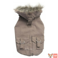 Baju Hewan Anjing Kucing- Elegant Blocktech Coat Fur Series LightBrown
