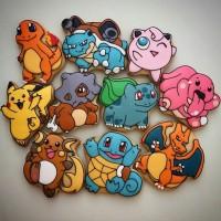 Pokemon 1 / Kukis hias / Kue karakter / Butter cookies character