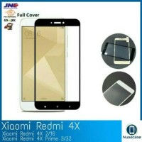 Tempered Glass Warna Xiomi Redmi 4X Fukl Cover Antigores 3D 4X Xiomi