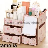 [RKR57] Rak Kosmetik Bahan Kayu CERMIN / cosmetic storage RKR57