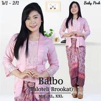 Kebaya Kutubaru Balbo set baby pink