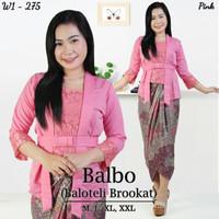 Kebaya Kutubaru Balbo set pink