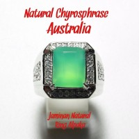 CINCIN NATURAL CHRYSOPRASE AUSTRALIA HQ DISEBUT JUGA NEFRIT AUSTRALI