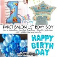 Paket Balon Ulang Tahun Baby Shower Birthday Boy / Anak Cowo