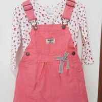 overall set oshkosh ori preloved dress anak