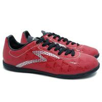 sepatu futsal Specs Quark IN (Chestnut Red/Black/Silver)