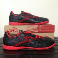 Sepatu Futsal Specs Quark IN Black Emperor Red 400720 Original
