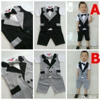Baju Anak Bayi Laki Laki Kondangan Bayi Setelan Tuxedo Bayi - Justin