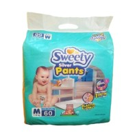 SWEETY DIAPERS SILVER PANTS M60