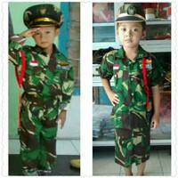 Seragam Profesi Anak - Baju Karnaval Anak - Tentara Anak - Baju Loreng