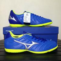 Sepatu Futsal Mizuno Rebula V3 IN Strong Blue P1GF188509 Original