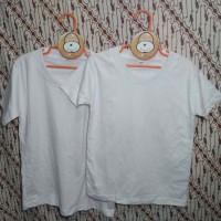 kaos anak katun polos, t-shirt anak polos putih, size M,combed 24/30s