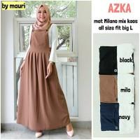 Jumpsuit Long dress maxi wanita muslim inner polos azka big L set