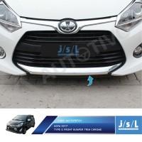 New Agya 2017 Type G Front Bumper Trim Chrome / Aksesoris Agya