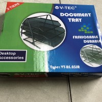 Bak Rak Susun/ Document Tray 3 susun Besi V-Tec