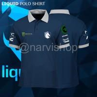 Polo Shirt Team Liquid 2018 | Baju Kaos Jersey Gaming Dota 2 Dota2