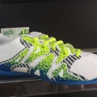 sepatu futsal adidas X 15 4 IN white blue 2016 new model original 10