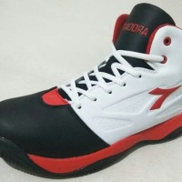 Sepatu Basket Diadora Dribling White Black Red Original