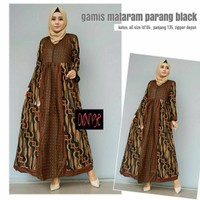 Dress Gamis Batik Mataram Parang Black