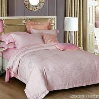 bed cover set king koil tencel motif bunga warna pink uk king 180x200