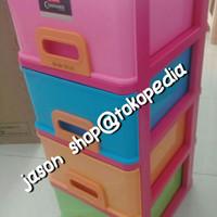 Lemari laci plastik/Container Lion Star Infini Susun 4