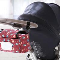 Stroller Bag plus tempat tissue tas perlengkapan kereta dorong bayi