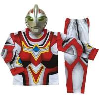 Baju Kostum anak Superhero Ultraman Go Lengkap dengan topeng