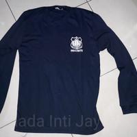 Kaos Oblong Security Lengan Panjang Biru Dongker l Baju Dalam Satpam