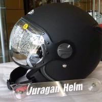 Terbaru Helm Half Paling Top Helm Zeus Z 210 Matt Black ukuran M L XL