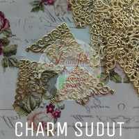 charm sudut : bahan acc, aksesoris, souvenir, juntai, bros