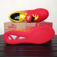 Lelang Sepatu Futsal Specs Equinox In Emperor Red Yellow 400711