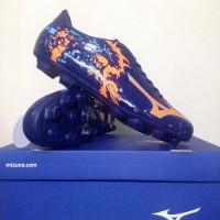 Sepatu Bola Mizuno P1GA189054 Ryuou Md Blue Depths Red Orange Aquarius