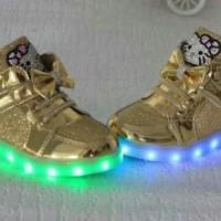Rare Item...Sepatu anak Import Hello Kitty LED Usb (Bisa di Charger)