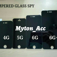 Anti Gores Kaca SPY Iphone 4 4G 4S Tempered Glass Privacy Screen Hitam
