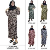 Pakaian Muslim Santai, Longdres Batik, Kancing, Bumil (LPT001-63)