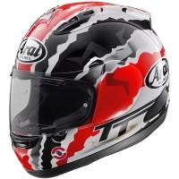 Arai RX7X Doohan TT Original Helm Full Face - Graphic Black White - Merah, SIZE M