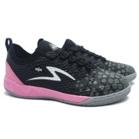 Sepatu Futsal Specs Metasala Knight - Black Dark Granite Maiden Pink G
