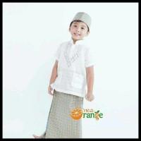 Cuci Gudang! Baju Koko Anak Balita Lengan Pendek Bordir Putih (1- 7