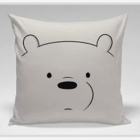 Bantal Sofa / bantal dekorasi We Bare Bears - Ice Bear Face