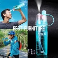 Best Botol Minum Sport Outdoor Traveling Dengan Spray Jet 600ml-Random