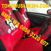 Sarung Jok Bantal Mobil 18 in 1 Mickey Minnie mouse Full Set agya ayla