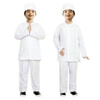 Baju Koko Anak Putih Fayrany FKP-005A Size 1 - 6 - 3 Tahun