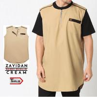 Rompi Sholat Zayidan Baju Muslim Pria - Cream Prayer Vest