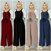 Set Dumita (NO PASHMINA)Baju Wanita Set Setelan Inner Jumpsuit Overal