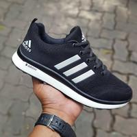 Sepatu Adidas Climacool Black White / Hitam Putih Pria Wanita Running