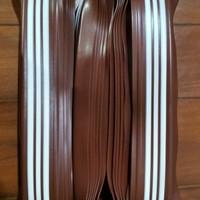 step nosing karet, Lis tangga , anti slip tangga, coklat list putih
