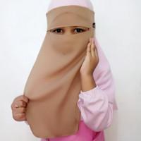 cadar bandana anak , niqab kids premium
